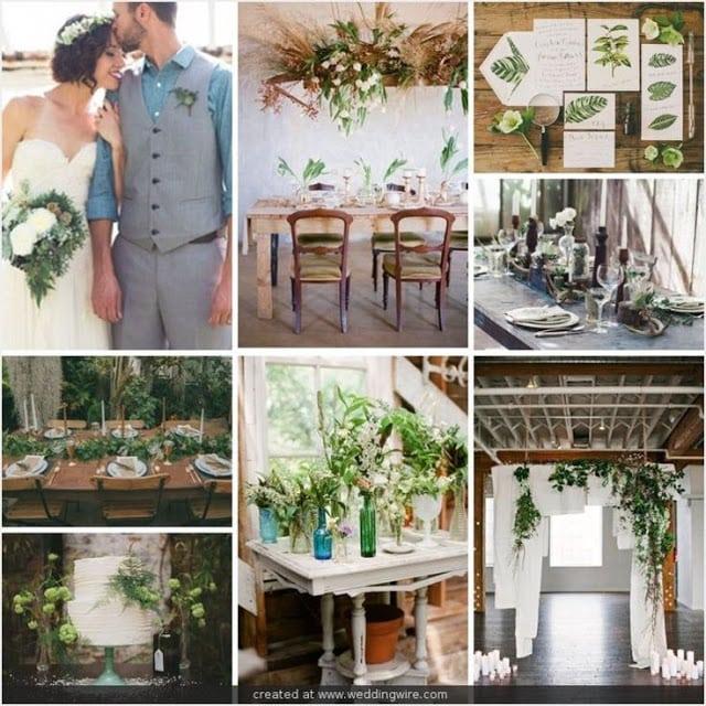 свадьба в стиле эко, ботаникал