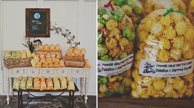 попкорн на свадьбе
