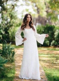 свадебное платье осень бохо
