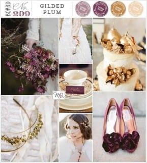 палитра для свадьбы осень фиолетовый