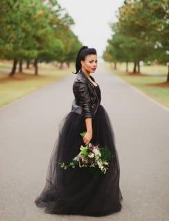 свадебное платье осень пышное черное