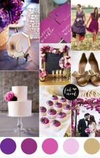палитра для свадьбы осень фиолетовый золото