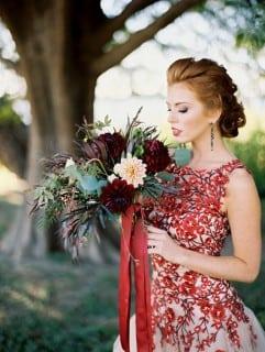 невеста осенью