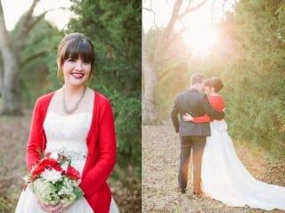 невеста осенью накидка