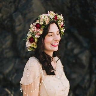 невеста в венке