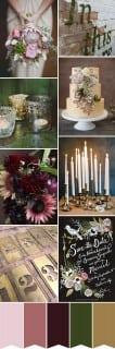 палитра для свадьбы осень