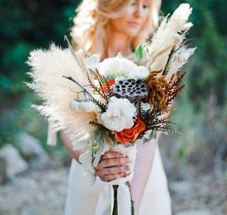 букет невесты осень бохо