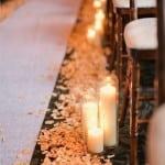 декор свадьбы осенью желтые листья