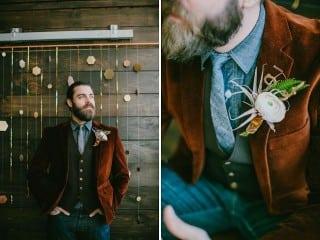 образ жениха осень бархатный пиджак