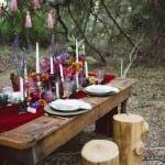 декор свадьбы осенью бохо
