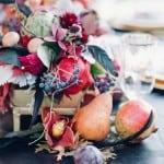декор свадьбы осенью фрукты