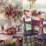 декор свадьбы осенью фиолетовый