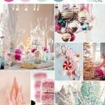 палитра свадьбы зимой розовый голубой