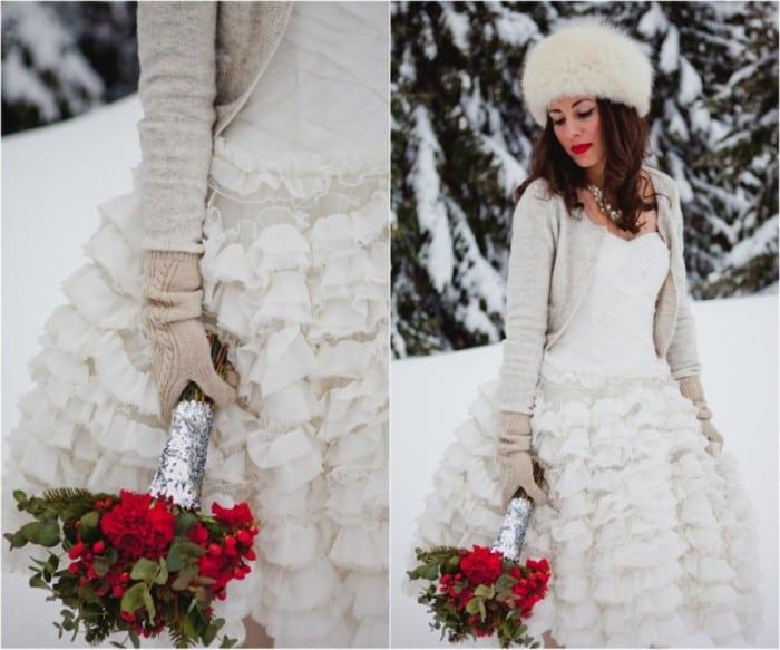 невеста зимой
