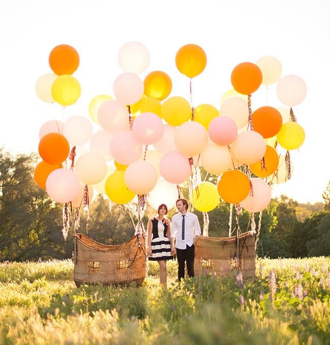 свадьба с воздушными шарами