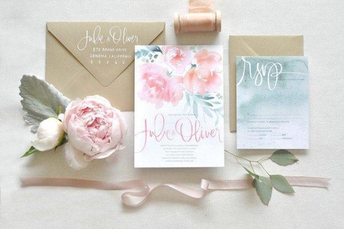свадьба 2016 акварельные приглашения