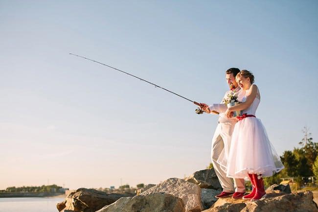 свадьба за городом рыбалка